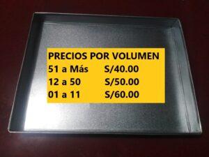 Bandeja, Pediluvio Doble Desinfectantede Acero, Aluminiocon Alfombra de Secado para Calzado para Protocolo Sanitario de Inicio de Actividades en Lima